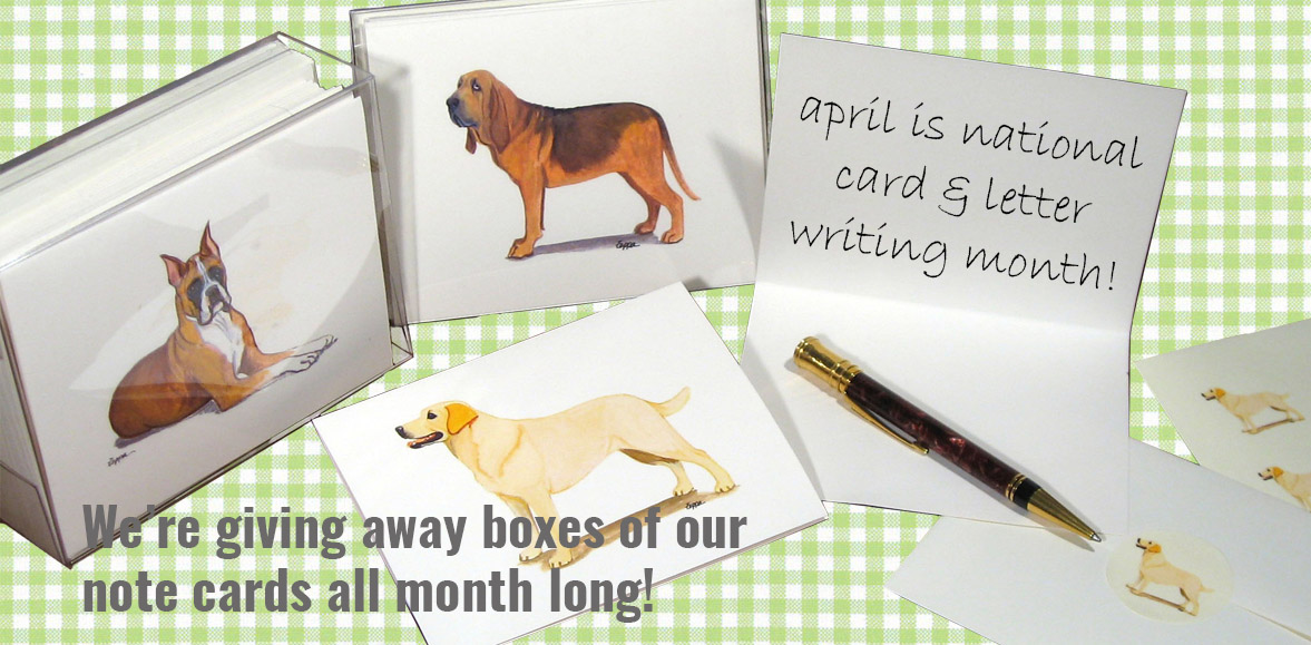 Note cards for our April Giveaway