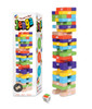 Jenga Throw & Go - Hardwood Stacking Game