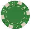 2-Tone Dice / Striped (11.5g) Pack of 25 Poker Chips: Green