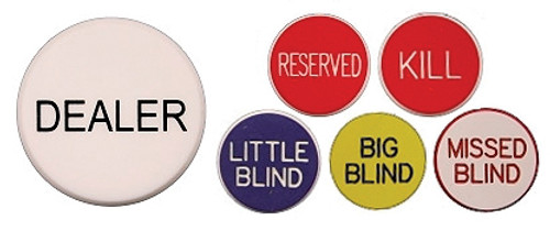 Dealer Button Pack