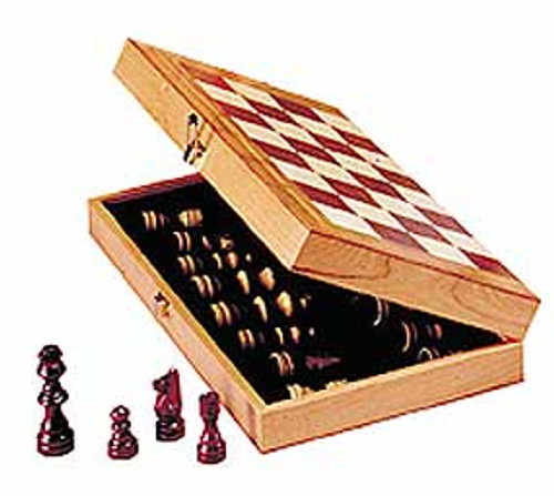 "Chess in a Box with 10.5"" Board - Chess Set"