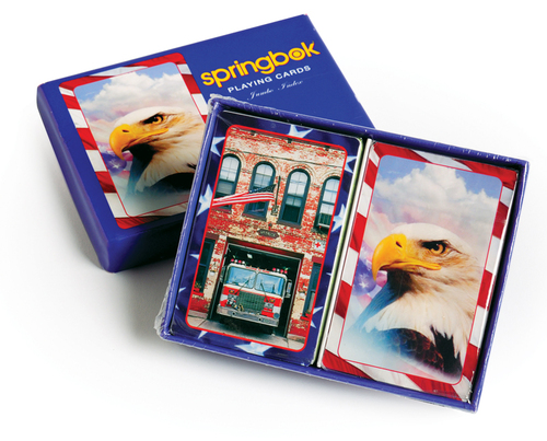 America the Beautiful - Double Deck Jumbo Index Playing Cards by Springbok