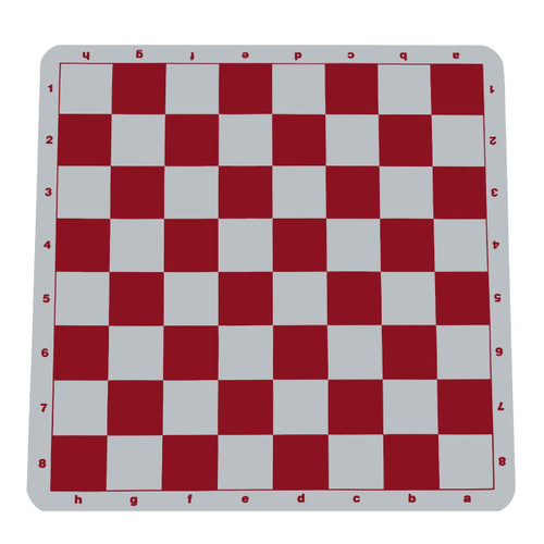 "100% Silicone Portable Tournament Chess Mat, 20"" x 20"", Red"