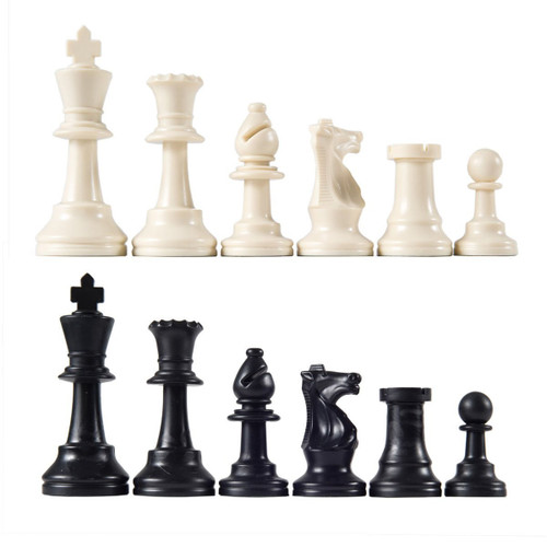 "Heavy Tournament Quality Triple Weighted Staunton Chess Pieces with 3 3/4"" King"