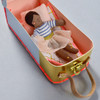 Ruby Mini Doll With House Suitcase, doll in suitcase as bed