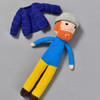 Vincent Van Gogh Crocheted Doll, with jacket off