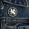 Philadelphia Museum of Art Griffin 1938 Enamel Pin on denim jacket