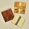Square Rare Wood Pins