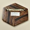 Hexagonal Rare Wood Pins, clasp, Two Tone Rare Wood