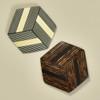 Hexagonal Rare Wood Pins