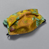 van Gogh: Sunflowers Kids Face Mask by Ana Thorne; pleats expanded