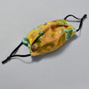 van Gogh: Sunflowers Kids Face Mask by Ana Thorne; pleats expanded, ear bands shown