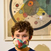 Kandinsky: Circles in a Circle Kids Face Mask by Ana Thorne on kid model