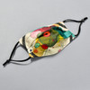 Kandinsky: Circles in a Circle Kids Face Mask by Ana Thorne; pleats expanded, ear bands shown