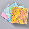 Marbled Notebook - four colors: orange, green, blue, pink
