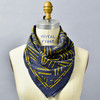 Yellow Pencil Navy Bandana, on mannequin