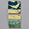 Yoshitoshi: Tile Pair by The Painted Lily, two tiles