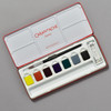 Caran d'Ache Gouache Set; interior of tin, palette with brush