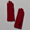 3 Button Burgundy Wool Blend Gloves front and back