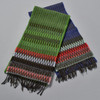 Blue, and Green, Chevron Edge Lambswool Scarfs, sold separately