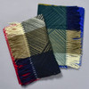 Blue, Green and Mustard Crosslines Scarf; with Red, Black and Beige Crosslines Scarf (sold separately)