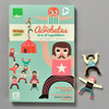 Les Acrobates Tightrope Walker, front of box with pieces