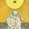 """The Lovers: Auguste Rodin's The Kiss Philly Tarot Deck Print 8"""" x 10"""" by James Boyle, detail"""