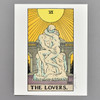 """The Lovers: Auguste Rodin's The Kiss Philly Tarot Deck Print 8"""" x 10"""" by James Boyle"""