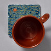 Chinese Rank Badge Crane Tile by The Painted Lily, with mug