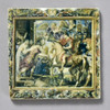 Rubens Tapestry Showing Constantine's Triumphal Entry into Rome Tile by The Painted Lily