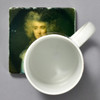 Gainsborough Portrait of a Lady in a Blue Dress Tile by The Painted Lily, with mug