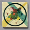 Kandinsky Circles in a Circle Tile by The Painted Lily