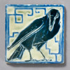 Raven Rookwood Pottery Tile by The Painted Lily