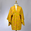 Golden Vintage Japanese Haori Jacket, on mannequin