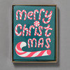 Neon Pink Merry Christmas Candy Canes Holiday Boxed Set, front of box