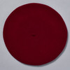 Burgundy Classic French Beret; overhead image
