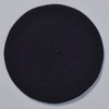 Black Classic French Beret; top view