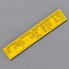 Penco Standard of Accuracy Wooden Ruler, yellow, back