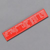 Penco Standard of Accuracy Wooden Ruler, red, back