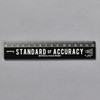 Penco Standard of Accuracy Wooden Ruler, black, front
