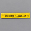 Penco Standard of Accuracy Wooden Ruler, yellow, front
