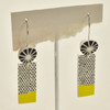 Verbena Polymer Earrings; hanging on stand