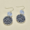 Double Circle Polymer Earrings Indigo