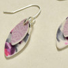 Purple Kitsune Polymer Earrings; detail image