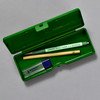 Penco Pencase Storage Container, green, open with supplies (sold separately)