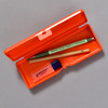 Penco Pencase Storage Container, orange, open with supplies (sold separately)