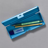 Penco Pencase Storage Container, blue, open with supplies (sold separately)