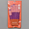 Magenta & Rust Colorblock Touchscreen Knit Gloves in packaging