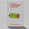 To Be or Not 2B Pencil Enamel Pin by Yardsale Press, on card