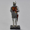 Knight in Mail Armor and Mail Coit Helmet Reproduction